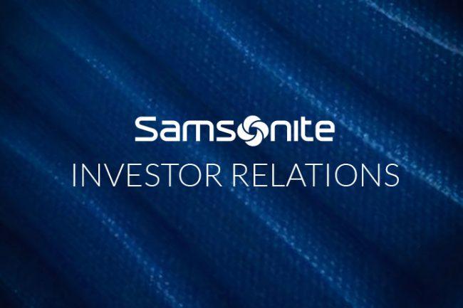 Samsonite Investor Relations Website