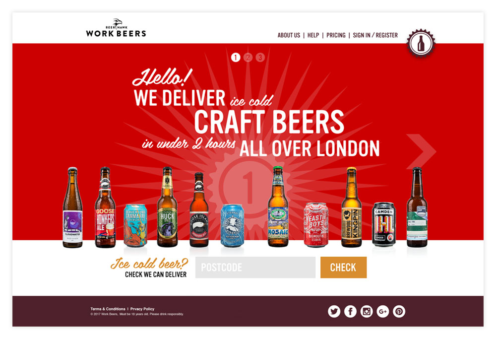 WorkBeers Homepage